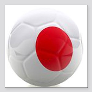 "Japan World Cup Ball Square Car Magnet 3"" x 3"""