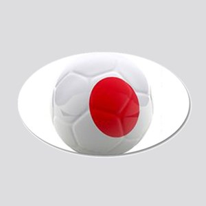 Japan World Cup Ball 20x12 Oval Wall Decal