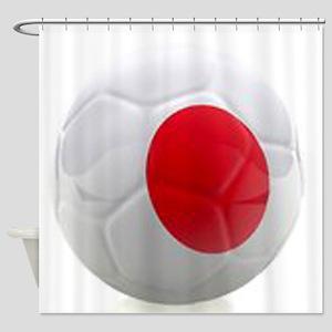 Japan World Cup Ball Shower Curtain