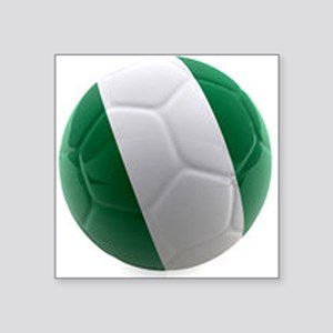 "Nigeria World Cup Ball Square Sticker 3"" x 3"""