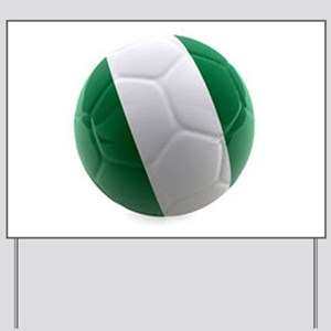 Nigeria World Cup Ball Yard Sign