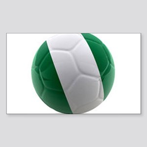 Nigeria World Cup Ball Sticker (Rectangle)