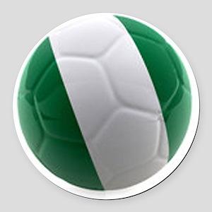 Nigeria World Cup Ball Round Car Magnet