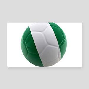 Nigeria World Cup Ball Rectangle Car Magnet