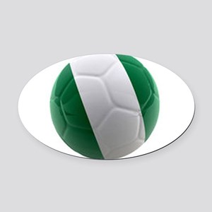 Nigeria World Cup Ball Oval Car Magnet