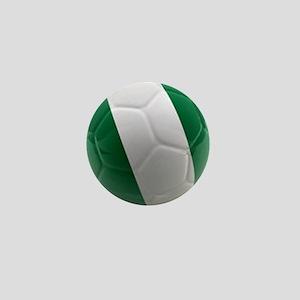 Nigeria World Cup Ball Mini Button