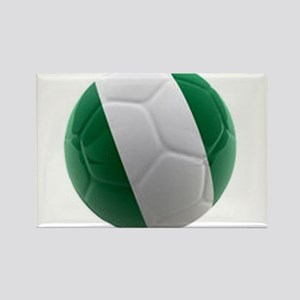 Nigeria World Cup Ball Rectangle Magnet