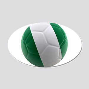 Nigeria World Cup Ball 20x12 Oval Wall Decal