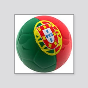 "Portugal World Cup Ball Square Sticker 3"" x 3"""