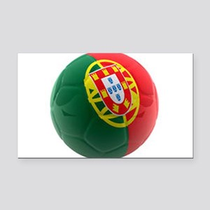 Portugal World Cup Ball Rectangle Car Magnet