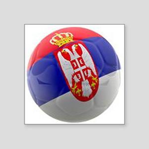 "Serbia World Cup Ball Square Sticker 3"" x 3"""