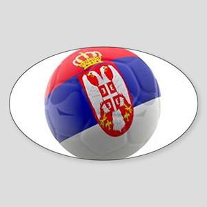 Serbia World Cup Ball Sticker (Oval)