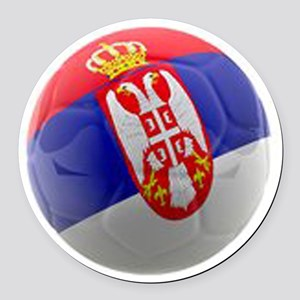 Serbia World Cup Ball Round Car Magnet
