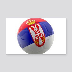 Serbia World Cup Ball Rectangle Car Magnet