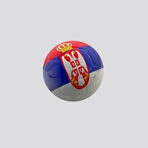 Serbia World Cup Ball Mini Button
