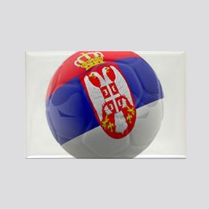 Serbia World Cup Ball Rectangle Magnet
