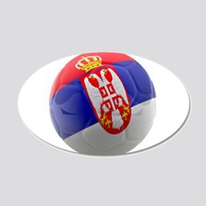 Serbia World Cup Ball 20x12 Oval Wall Decal
