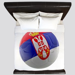 Serbia World Cup Ball King Duvet