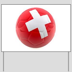 Switzerland World Cup Ball Yard Sign