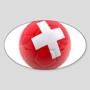 Switzerland World Cup Ball Sticker (Oval)