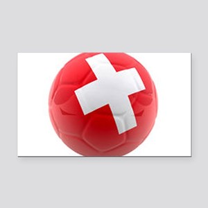 Switzerland World Cup Ball Rectangle Car Magnet