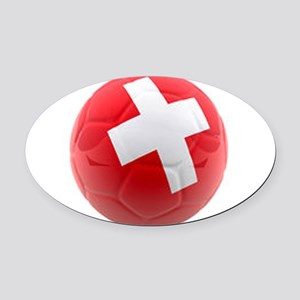 Switzerland World Cup Ball Oval Car Magnet