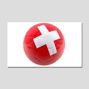 Switzerland World Cup Ball Car Magnet 20 x 12