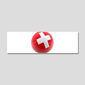 Switzerland World Cup Ball Car Magnet 10 x 3