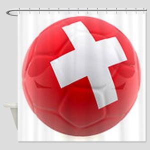 Switzerland World Cup Ball Shower Curtain