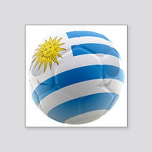 "Uruguay World Cup Ball Square Sticker 3"" x 3"""