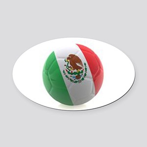 Mexico World Cup Ball Oval Car Magnet