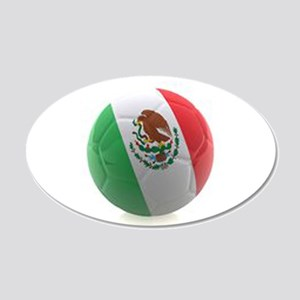Mexico World Cup Ball 20x12 Oval Wall Decal