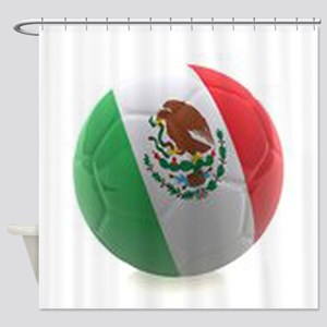 Mexico World Cup Ball Shower Curtain
