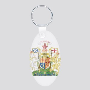 Scotland Coat Of Arms Aluminum Oval Keychain