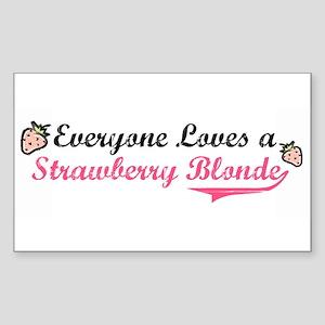 Everyone Loves a Strawberry B Sticker (Rectangular