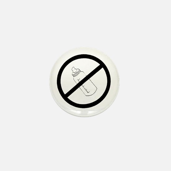not bottle fed circle slash Mini Button