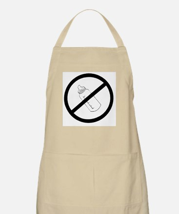 not bottle fed circle slash BBQ Apron