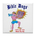 BIBLE DOGS Tile Coaster