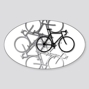 Bicycle circle Sticker (Oval)