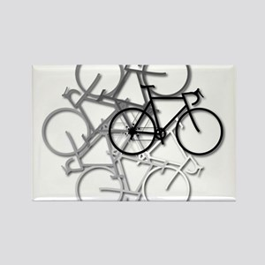 Bicycle circle Rectangle Magnet