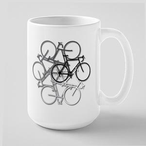 Bicycle circle Large Mug