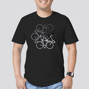 Bicycle circle Men's Fitted T-Shirt (dark)