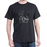 Bicycles Mens Classic Dark T-Shirts