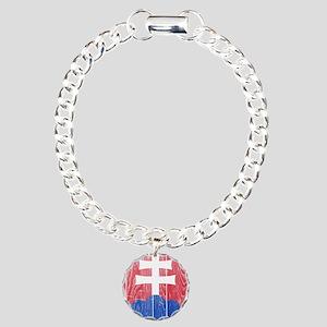 Slovakia Coat Of Arms Charm Bracelet, One Charm