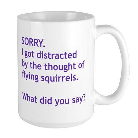 Purple Squirrels Large Mug