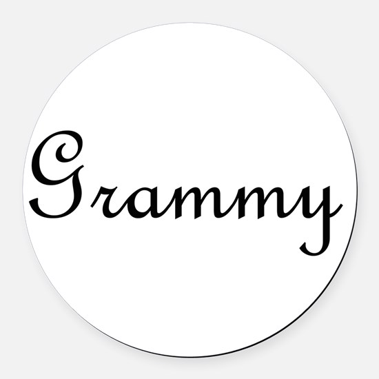Grammy.png Round Car Magnet