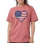 American Flag Heart Womens Comfort Colors Shirt