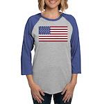 American Flag Womens Baseball Tee