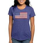 American Flag Womens Tri-blend T-Shirt