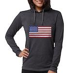 American Flag Womens Hooded Shirt